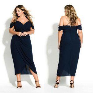 NEW City Chic | Entwine Maxi Dress Navy L/20